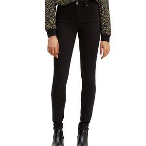 Levi's 721 Black Highrise Skinny Jeans